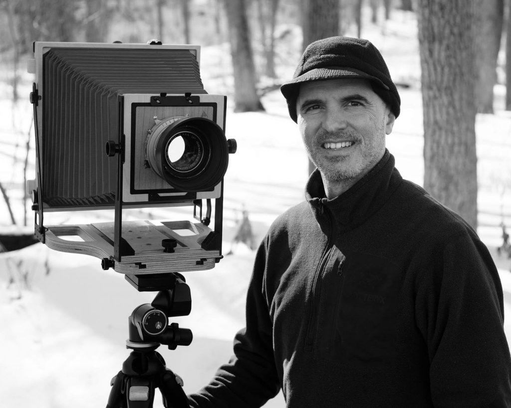 photographer with Intrepid 8x10 camera