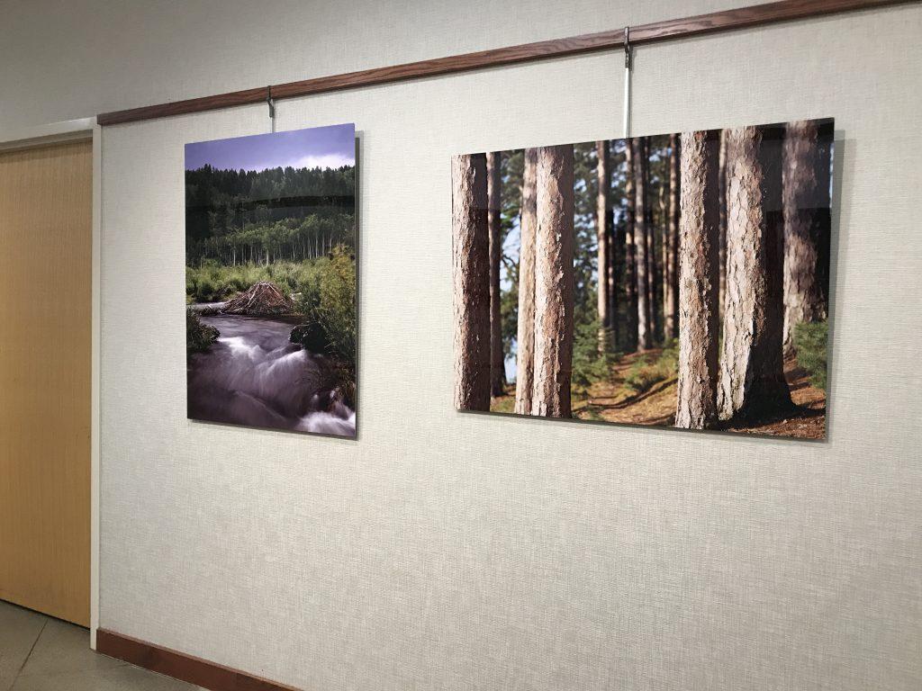 Large metal color landscape prints