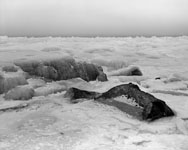 photo of rocks and ice on Lake Superior