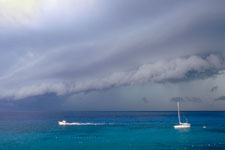 photo of a squall coming ashore